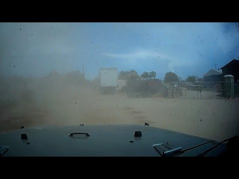 Storm Chaser Driving Through Large Dust Devils, Lake Elsinore, CA – 7/18/2021