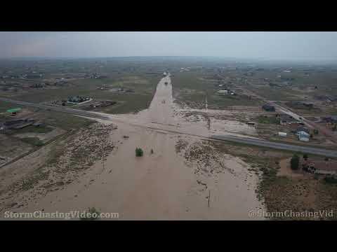 Flash Flooding Washing Over Several Roads, Pueblo West, CO 7/24/2021
