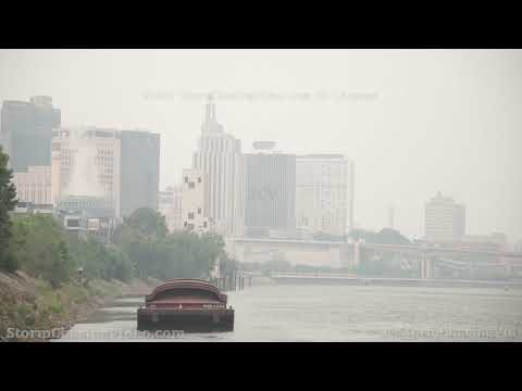 Thick Wildfire Smoke Blankets St. Paul, MN – 7/29/2021
