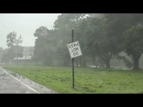 Hurricane Ida Initial Impacts In Raceland, LA – 8/29/2021