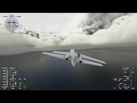 MS Flight Simulator Flight into Hurricane Larry Eye