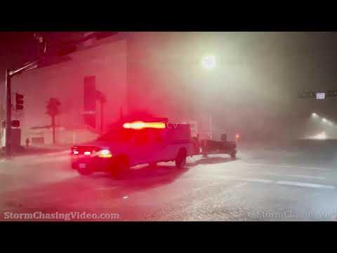 Hurricane Nicholas Overnight Landfall, Galveston TX – 9/14/2021