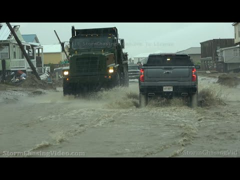 Flash Flooding From Nicholas Hampers Grand Isle, LA Recovery From Ida