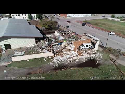 4K Drone Footage of the Tornado Damage in Anadarko, OK – 10/10/2021